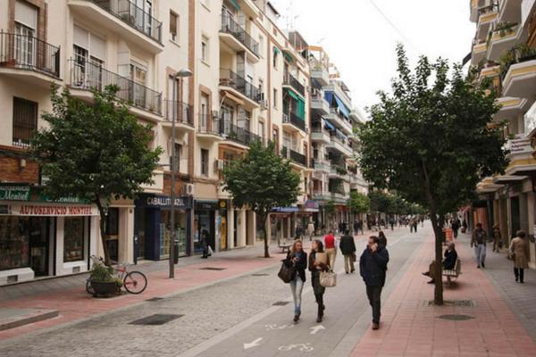 La Geometría de las aceras, Calle Asunción, Sevilla