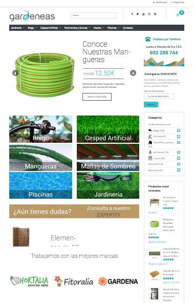 Web wordpress woocommerce Tienda Gardeneas de jardinería
